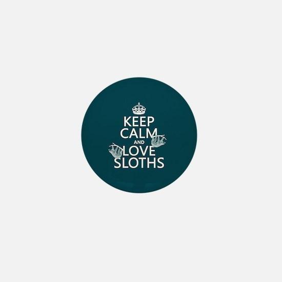 Keep Calm and Love Sloths Mini Button (10 pack)