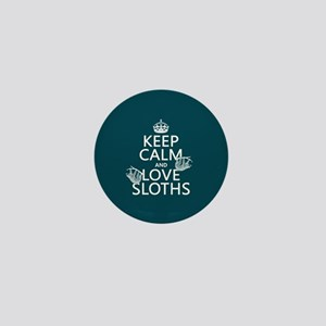 Keep Calm and Love Sloths Mini Button