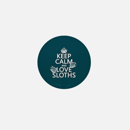 Keep Calm and Love Sloths Mini Button