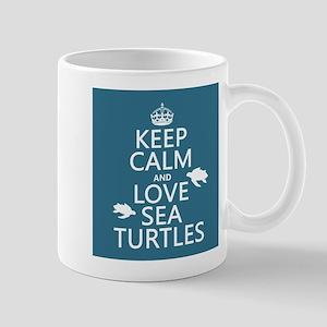 Keep Calm and Love Sea Turtles Mugs