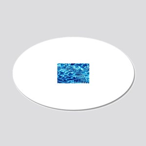 Blue Liquid Art 20x12 Oval Wall Decal