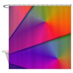 Origami Rainbow Abstract Fractal Shower Curtain