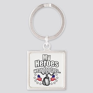 my heroes wear Square Keychain