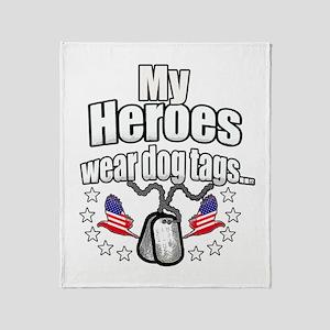 my heroes wear Throw Blanket