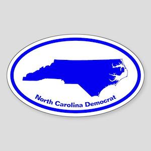 North Carolina BLUE STATE Oval Sticker
