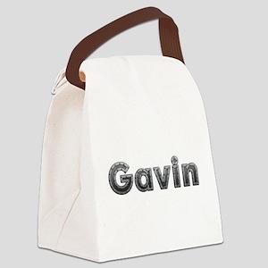 Gavin Metal Canvas Lunch Bag