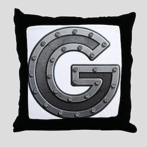G Metal Throw Pillow