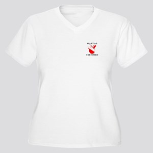 Surface Buddy Women's Plus Size V-Neck T-Shirt
