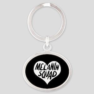 Melanin Squad Oval Keychain