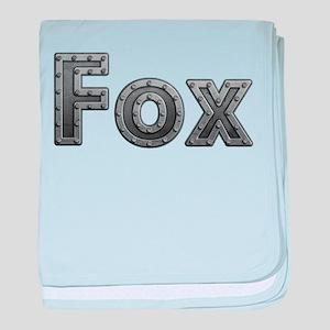 Fox Metal baby blanket