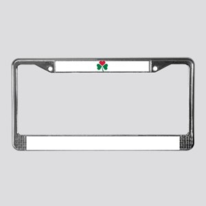 Shamrock red heart License Plate Frame
