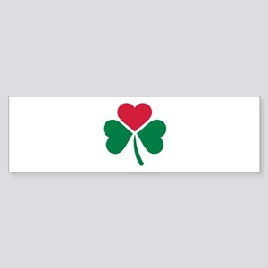 Shamrock red heart Sticker (Bumper)