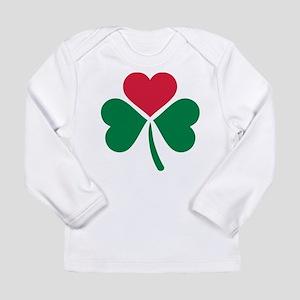 Shamrock red heart Long Sleeve Infant T-Shirt