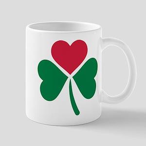Shamrock red heart Mug