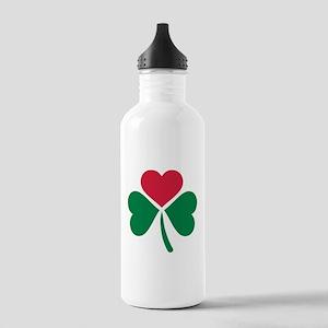 Shamrock red heart Stainless Water Bottle 1.0L