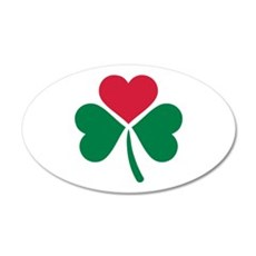 Shamrock red heart Wall Decal