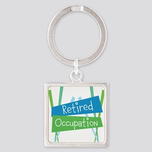 CUSTOMIZE Retired Square Keychain