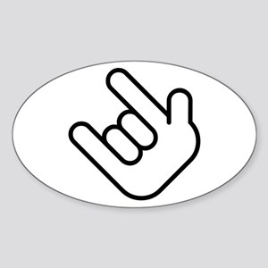 Thizz Hand Sign Oval Sticker