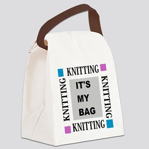 Knitting - Its My Bag Canvas Lunch Bag