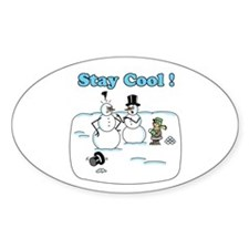 Stay Cool Sticker (Oval)