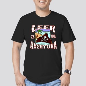 Reading is an Adventur Men's Fitted T-Shirt (dark)
