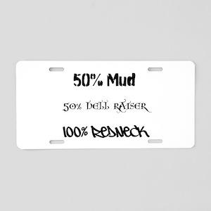 Mud, Hell Raiser, Redneck Aluminum License Plate