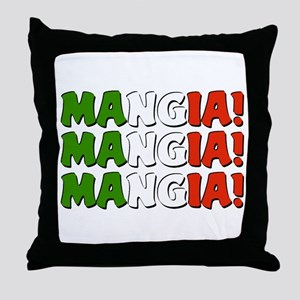 Mangia! Mangia! Mangia! Throw Pillow