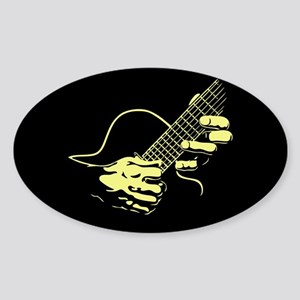 guitar-hands2-col-red-T Sticker