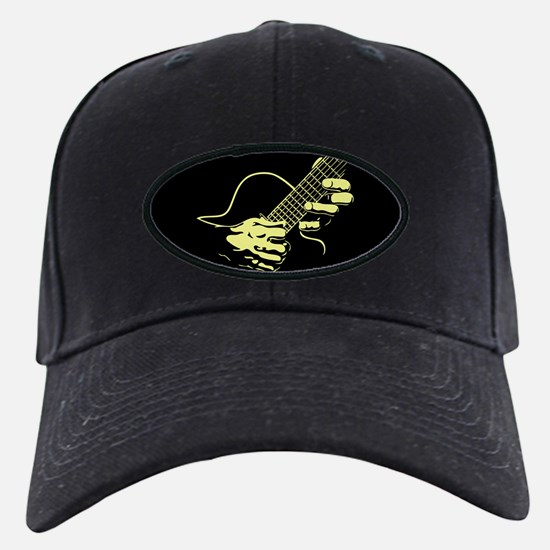 guitar-hands2-col-red-T Baseball Hat
