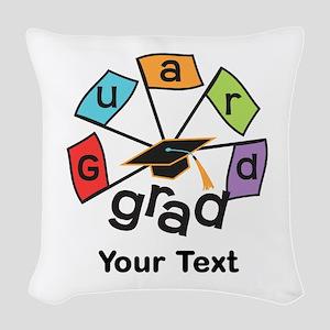 Customize Guard Grad Flags Woven Throw Pillow
