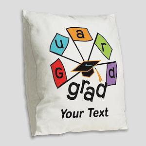Customize Guard Grad Flags Burlap Throw Pillow