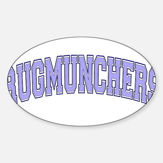 Rugmunchers Sticker (Oval)