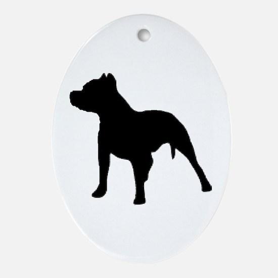 pitbull 1C Ornament (Oval)