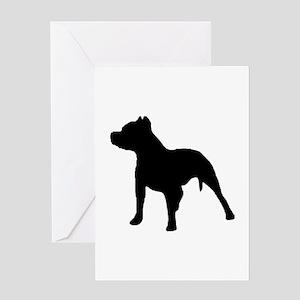 pitbull 1C Greeting Cards