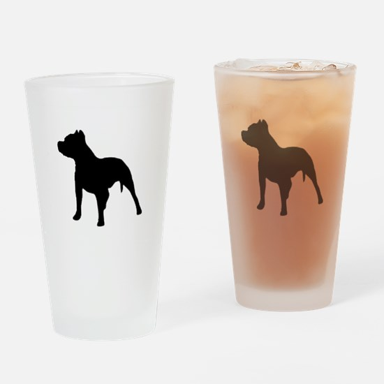 pitbull 1C Drinking Glass