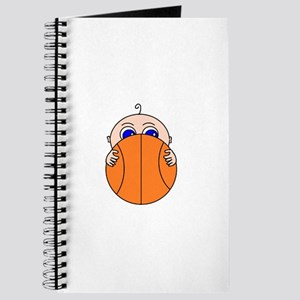 Baby Peeking Basketball Journal