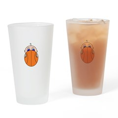 Baby Peeking Basketball Drinking Glass