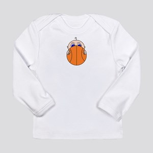 Baby Peeking Basketball Long Sleeve T-Shirt
