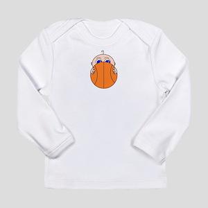 Baby Peeking Basketball Long Sleeve T-Shirt