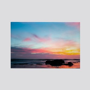 Sunset Handry's Beach Rectangle Magnet