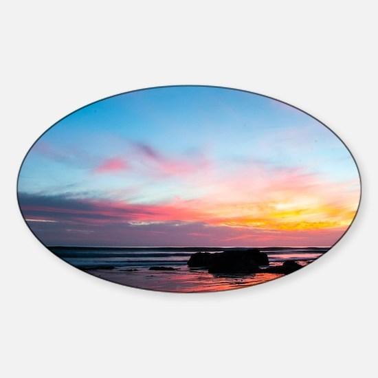 Sunset Handry's Beach Sticker (Oval)