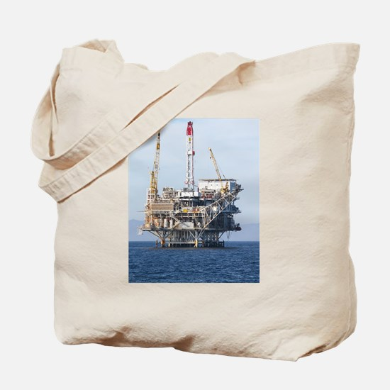 Oil Rig Tote Bag