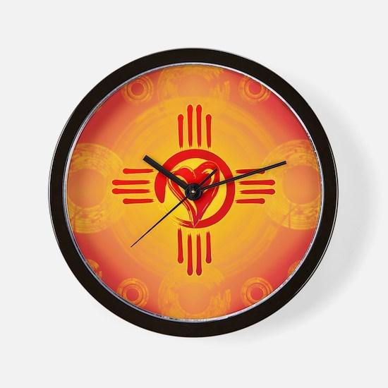 DESERT SUNSET ZIA LOVE! Wall Clock