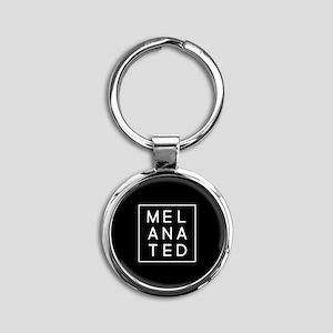Melanated Round Keychain