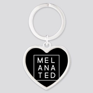 Melanated Heart Keychain