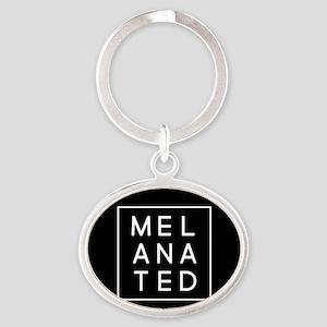Melanated Oval Keychain
