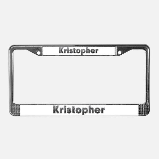 Kristopher Metal License Plate Frame