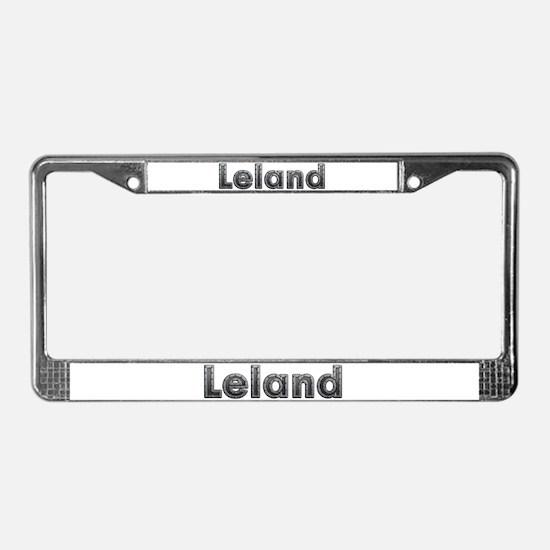 Leland Metal License Plate Frame