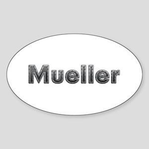 Mueller Metal Oval Sticker