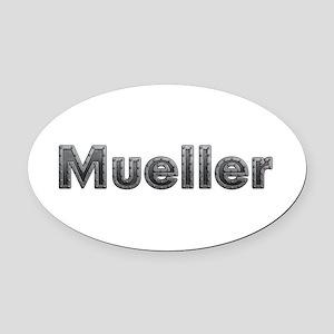 Mueller Metal Oval Car Magnet